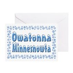 Owatonna Minnesnowta Greeting Card
