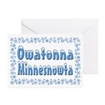 Owatonna Minnesnowta Greeting Cards (Pk of 20)