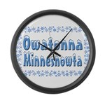 Owatonna Minnesnowta Large Wall Clock