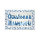 Owatonna Minnesnowta Rectangle Magnet (10 pack)