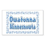 Owatonna Minnesnowta Sticker (Rectangle 10 pk)