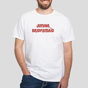 Heart Jr. Bridesmaid White T-Shirt