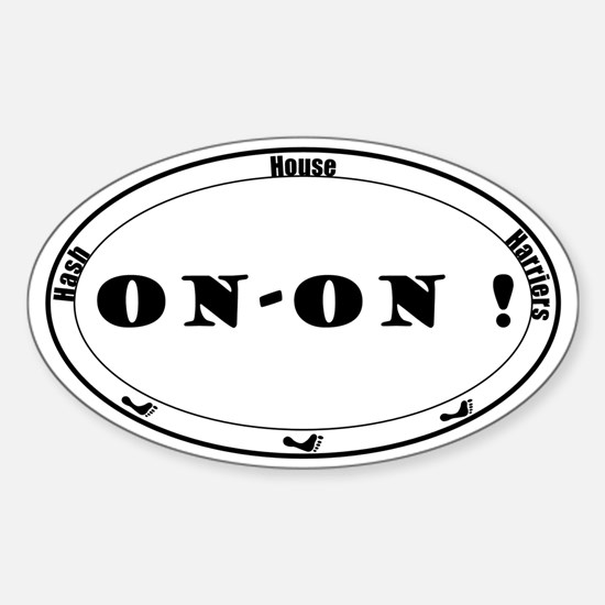 On-On Sticker (Oval)