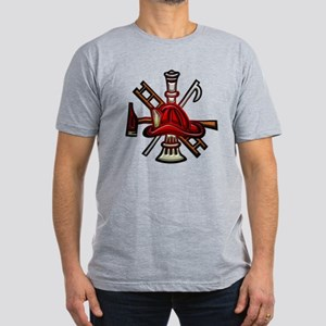 Men's Fitted T-Shirt (dark) Firefighter Graphic