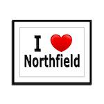 I Love Northfield Framed Panel Print