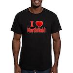 I Love Northfield Men's Fitted T-Shirt (dark)