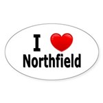 I Love Northfield Sticker (Oval 10 pk)