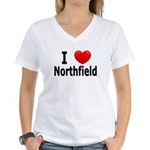 I Love Northfield Women's V-Neck T-Shirt