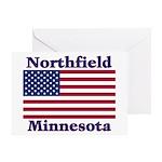 Northfield US Flag Greeting Card