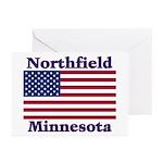 Northfield US Flag Greeting Cards (Pk of 10)