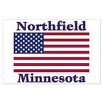 Northfield US Flag Large Poster