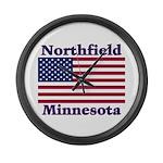 Northfield US Flag Large Wall Clock