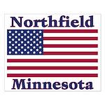 Northfield US Flag Small Poster