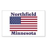 Northfield US Flag Sticker (Rectangle 50 pk)