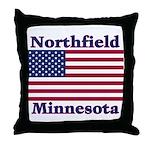 Northfield US Flag Throw Pillow