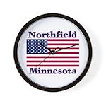Northfield US Flag Wall Clock