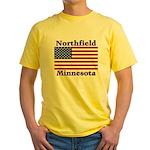 Northfield US Flag Yellow T-Shirt