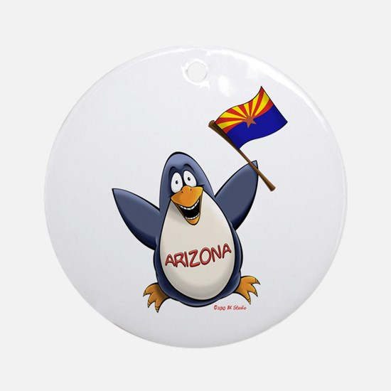 Arizona Penguin Ornament (Round)