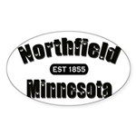 Northfield Established 1855 Sticker (Oval 10 pk)