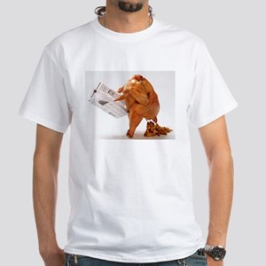 Thanksgiving Funny Turkey White T-Shirt