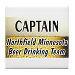 Northfield Beer Drinking Team Tile Coaster
