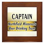 Northfield Beer Drinking Team Framed Tile