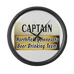 Northfield Beer Drinking Team Large Wall Clock