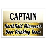 Northfield Beer Drinking Team Large Poster