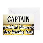 Northfield Beer Drinking Team Greeting Cards (Pk o