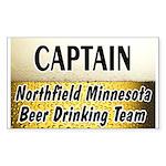 Northfield Beer Drinking Team Sticker (Rectangle)