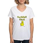 Northfield Chick Shop Women's V-Neck T-Shirt