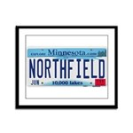 Northfield License Plate Framed Panel Print