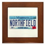 Northfield License Plate Framed Tile