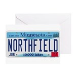 Northfield License Plate Greeting Card