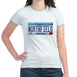 Northfield License Plate Jr. Ringer T-Shirt