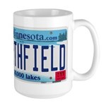 Northfield License Plate Large Mug