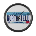 Northfield License Plate Large Wall Clock
