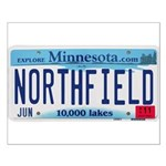 Northfield License Plate Small Poster