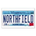 Northfield License Plate Sticker (Rectangle)