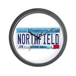 Northfield License Plate Wall Clock