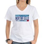 Northfield License Plate Women's V-Neck T-Shirt