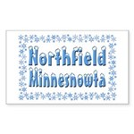 Northfield Minnesnowta Sticker (Rectangle)