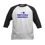 I Love Northfield Kids Baseball Jersey