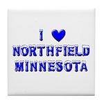 I Love Northfield Tile Coaster