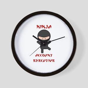 Ninja Account Executive Wall Clock