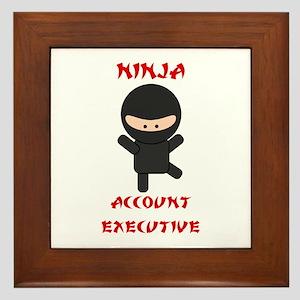 Ninja Account Executive Framed Tile