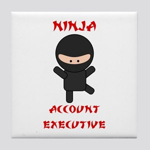 Ninja Account Executive Tile Coaster