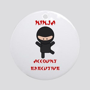 Ninja Account Executive Ornament (Round)