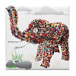 Beaded Elephant Tile Coaster