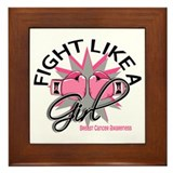 Fight like a girl Framed Tiles